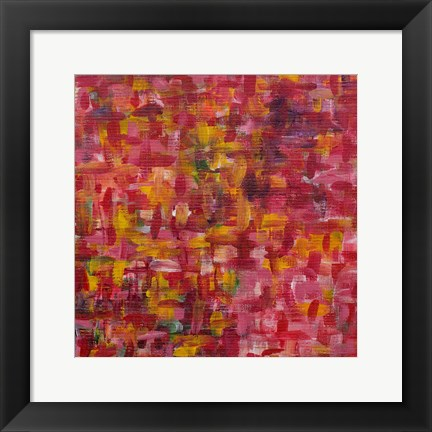 Framed Mixed Emotions in Red I Print