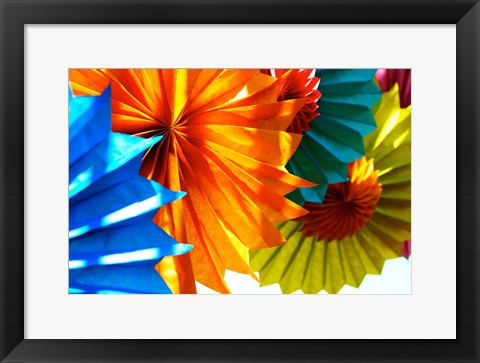Framed Paper Flowers Print