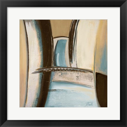Framed Time Flies on Blue II Print