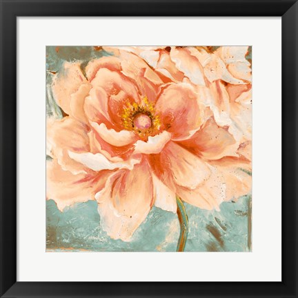 Framed Beautiful Peonies Square I Print