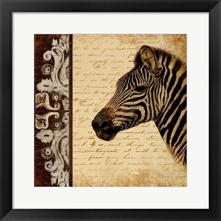 Framed Madagascar Safari II Print