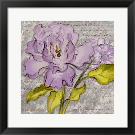 Framed Purple Florals II Print