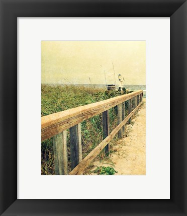 Framed Beach Rails I Print