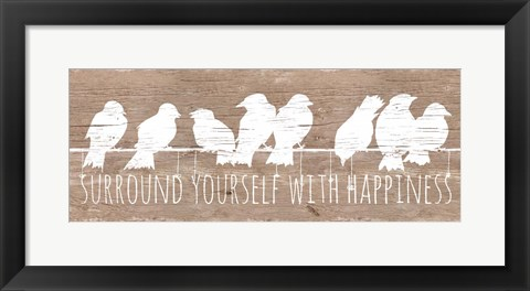 Framed Surround with Happiness Print