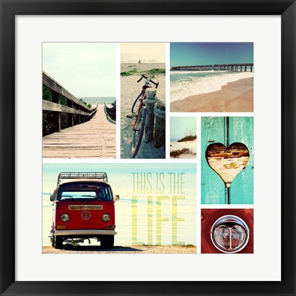 Framed Beach Life I Print