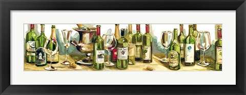 Framed Wine & Champagne Panel Print