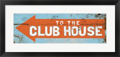 Framed To the Club House Print