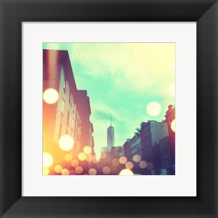 Framed City Stroll I Print