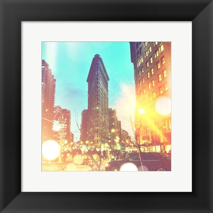 Framed City Stroll II Print