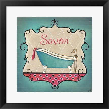 Framed Bain and Savon II Print