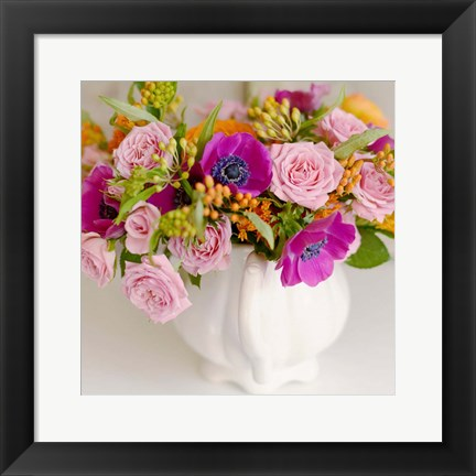 Framed Radiant Bouquet Square Print
