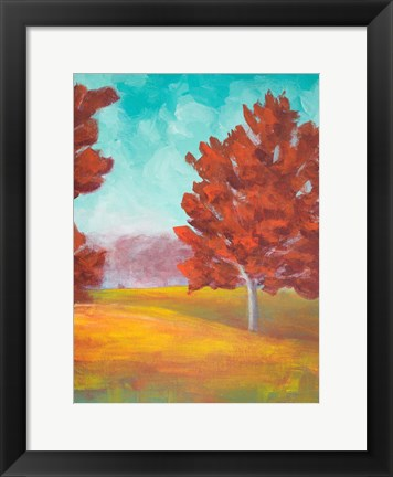 Framed Yellow Pasture Print