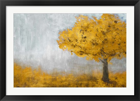 Framed Yellow Eternal Tree Print