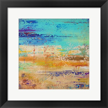 Framed Abstract Multicolored Print