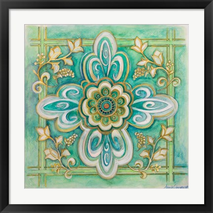 Framed French Medallion II Print