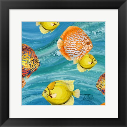 Framed Aquatic Sea Life I Print