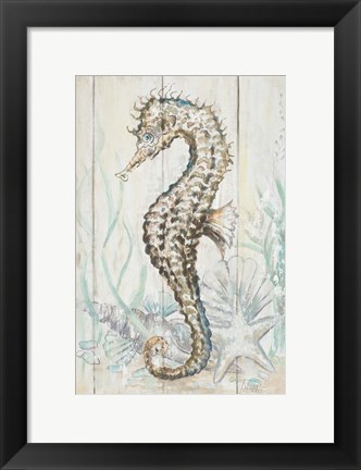 Framed Antique Sea Horse II Print