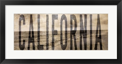 Framed California Type Wave Print