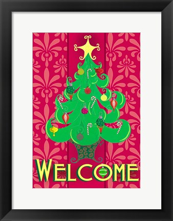 Framed Christmas Tree Welcome Print