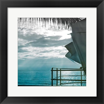 Framed On a Teal Beach II Print