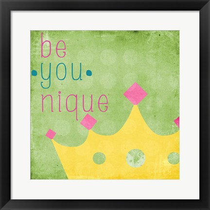 Framed Be You Crown II Print