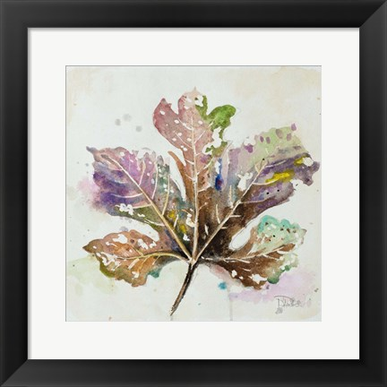 Framed Global Leaves IV Print