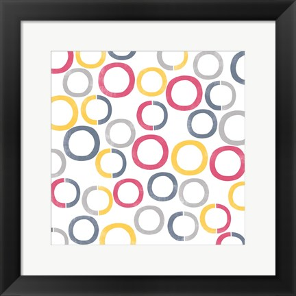 Framed Geo Rings II Print