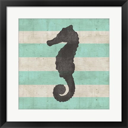 Framed Striped Coastal II Print