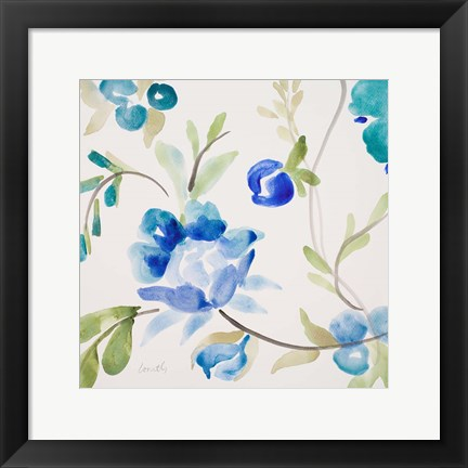 Framed French Floral Print