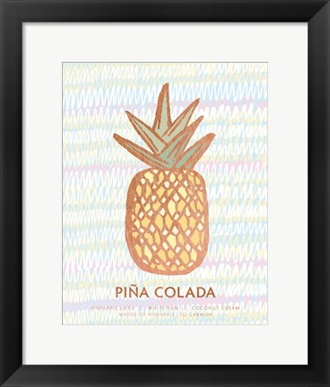 Framed Tropical Drinks I Print