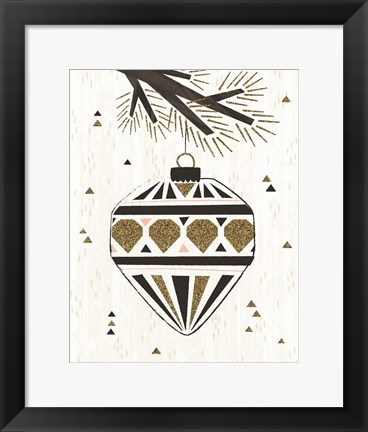 Framed Glitzy Ornament IV Print