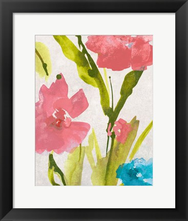 Framed Blue and Pink le Povat  II Print