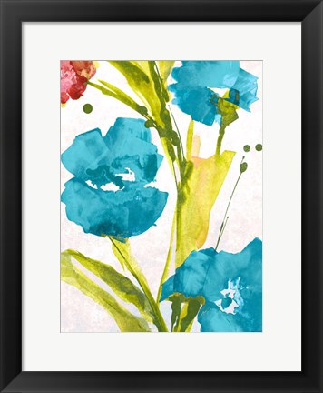 Framed Blue and Pink le Povat I Print