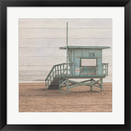 Framed Life Guard White Wash Print