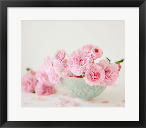 Framed Petals and Porcelain Print