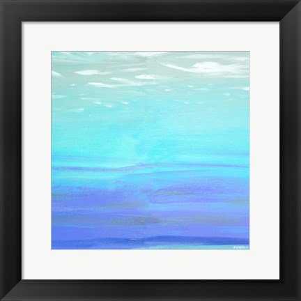 Framed Aquatic Abstract Print
