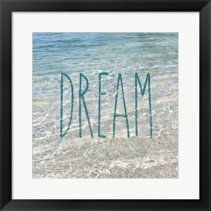 Framed Dream In The Ocean Print