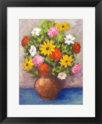 Framed Vase of Beauty II Print
