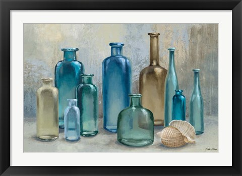 Framed Glass Bottles Print