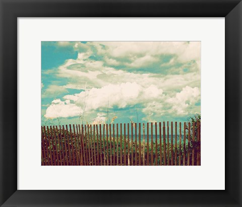 Framed Beyond The Fence Print