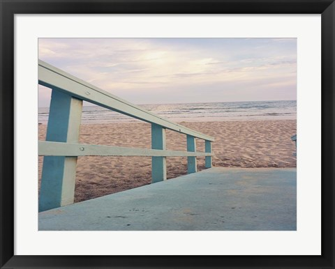 Framed Down to the Beach Print
