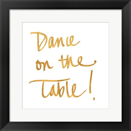 Framed Dance on the Table Print