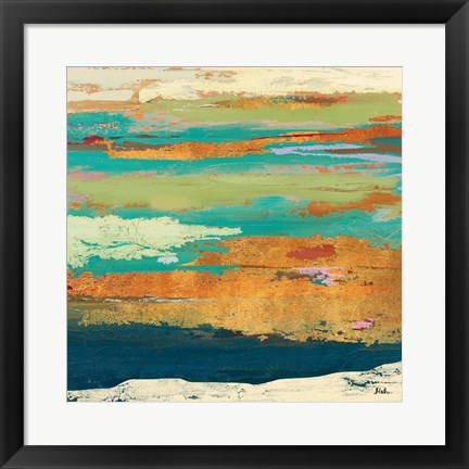 Framed Tropical Sunrise I Print