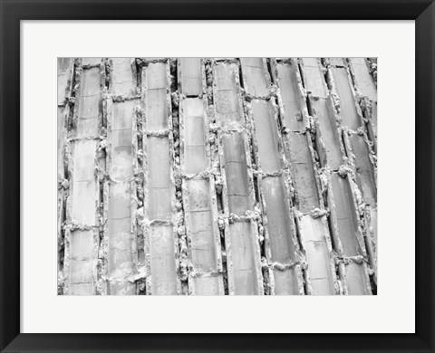 Framed Gray Bricks II Print