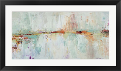 Framed Abstract Rhizome Rectangle Print