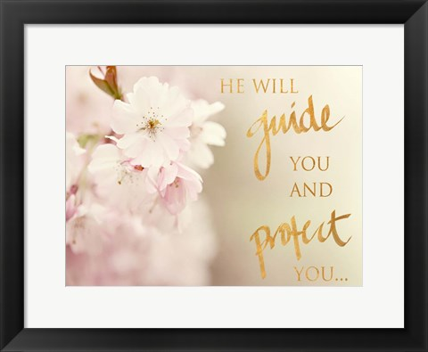 Framed He Will Guide You Print