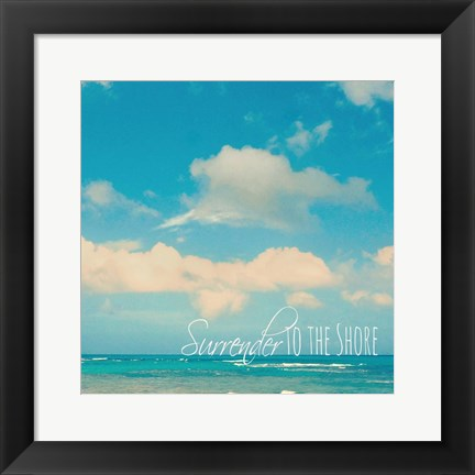 Framed Surrender To The Shore Print