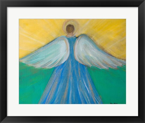 Framed Angels Wings of Enlightment Print