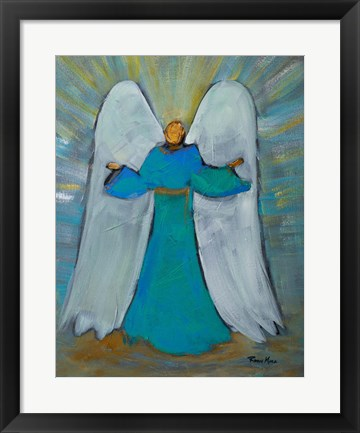 Framed Angel of Joy Print