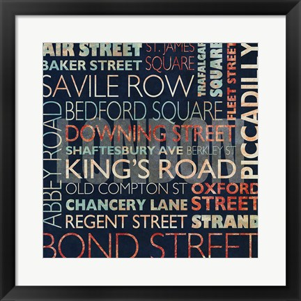 Framed Streets of London Print